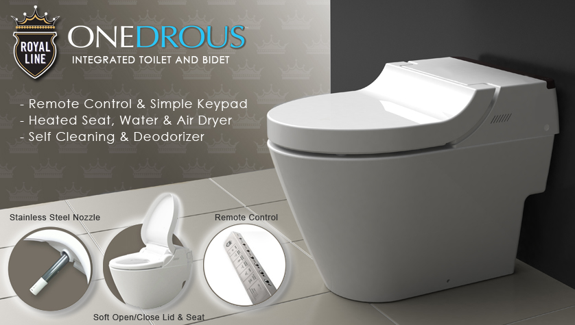 Toilet And Bidet Combo Integrated Toilet & Bidet  Royal Line